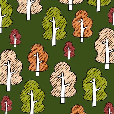 summer festival: Seamless tree    Illustration