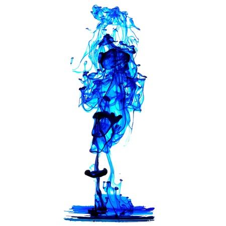 stir: Blue ink spread