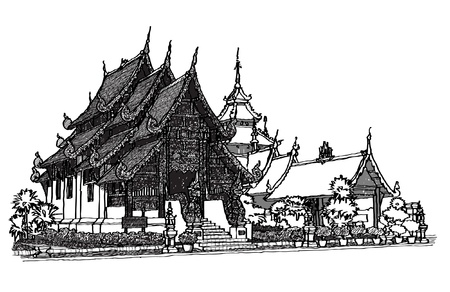 chiangmai: Lanna Temple sketchbook