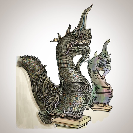 Naga sketchbook Stock Vector - 16114391