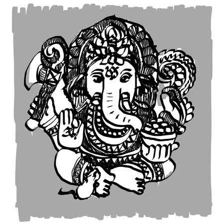Ganesha sketchbook Vector