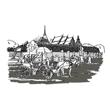 Wat Pra That Lampang Luang sketchbook