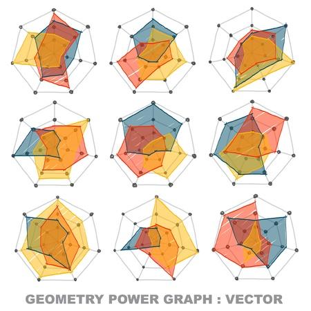 Geometry power graph Stock Vector - 16686405