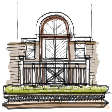 Balcony sketchbook Stock Vector - 16686409