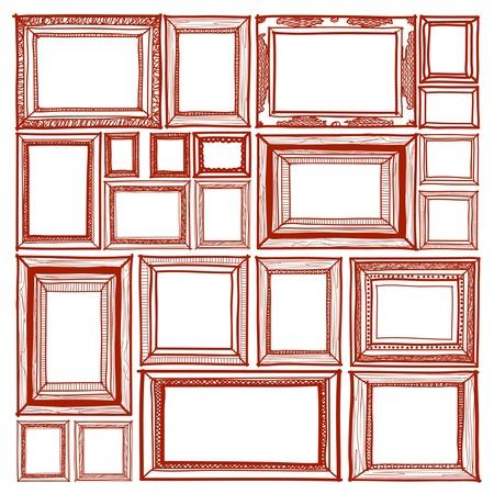 Frame sketchbook style Vector