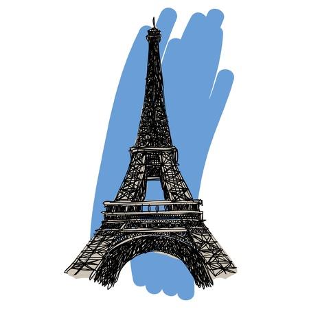 Eiffel Tower : sketchbook Stock Vector - 16686438