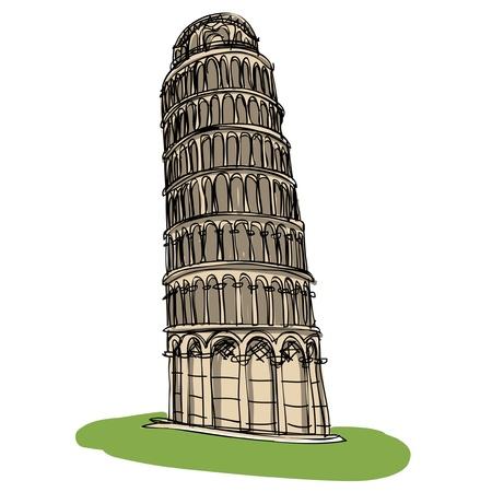 Pisa tower sketcbook Stock Vector - 16686421