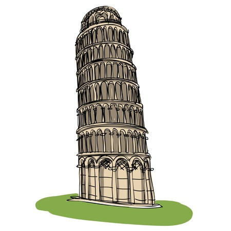 tower of pisa: Pisa tower sketcbook  Illustration
