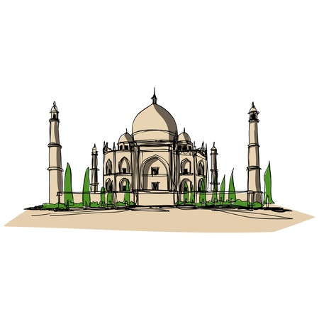 famous place: Taj Mahal sketcbook