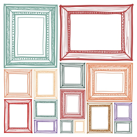 Frame sketchbook vector style Illustration