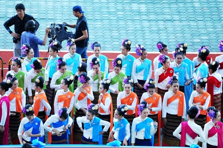 CHIANG MAI, THAILAND-DECEMBER 9 : CHIANG MAI GAMES. The opening ceremony of the 41st National Games at The 700th Anniversary Stadium on December 9, 2012 in Chiangmai,Thailand