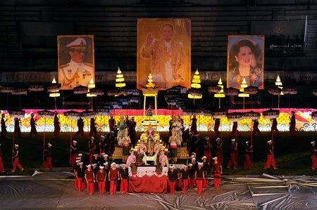 CHIANG MAI, THAILAND - DECEMBER 9 : CHIANG MAI GAMES. The opening ceremony of the 41st National Games at The 700th Anniversary Stadium on December 9, 2012 in Chiang mai,Thailand