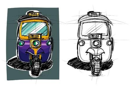 Taxi Thailand sketchbook