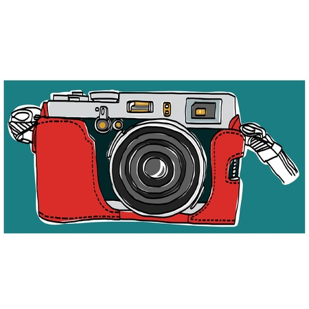 Rangefinder camera vector sketchbook  Illustration