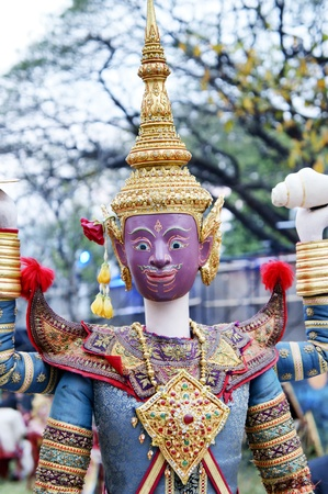 CHIANG MAI THAILAND-FEB. 22 : ASEAN Enchanting Puppets 2013.Opening ceremony of the international puppet theater ASEAN at The CMU. Art Center.on FEB. 22,2013 in Chiangmai,Thailand Stock Photo - 18832913