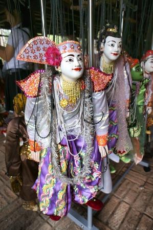 CHIANG MAI THAILAND-FEB. 23 : ASEAN Enchanting Puppets 2013.Identity Hoon sai Marionettes of Myanmar at CMU. Art Center.on FEB. 23,2013 in Chiangmai,Thailand Stock Photo - 18832896