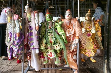 CHIANG MAI THAILAND-FEB. 23 : ASEAN Enchanting Puppets 2013.Identity Hoon sai Marionettes of Myanmar at CMU. Art Center.on FEB. 23,2013 in Chiangmai,Thailand Stock Photo - 18832908