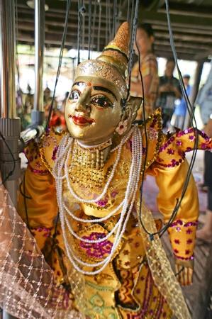 CHIANG MAI THAILAND-FEB. 23 : ASEAN Enchanting Puppets 2013.Identity Hoon sai Marionettes of Myanmar at CMU. Art Center.on FEB. 23,2013 in Chiangmai,Thailand Stock Photo - 18832890