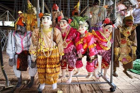 CHIANG MAI THAILAND-FEB. 23 : ASEAN Enchanting Puppets 2013.Identity Hoon sai Marionettes of Myanmar at CMU. Art Center.on FEB. 23,2013 in Chiangmai,Thailand Stock Photo - 18832907