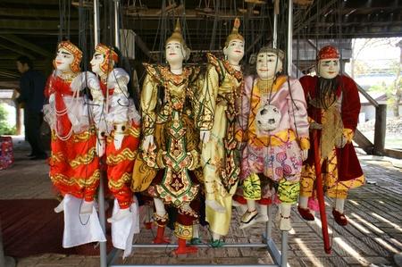 hoon: CHIANG MAI THAILAND-FEB. 23 : ASEAN Enchanting Puppets 2013.Identity Hoon sai Marionettes of Myanmar at CMU. Art Center.on FEB. 23,2013 in Chiangmai,Thailand Editorial