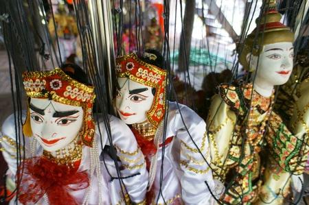 CHIANG MAI THAILAND-FEB. 23 : ASEAN Enchanting Puppets 2013.Identity Hoon sai Marionettes of Myanmar at CMU. Art Center.on FEB. 23,2013 in Chiangmai,Thailand Stock Photo - 18832882