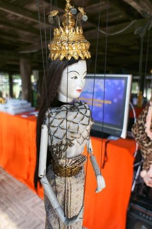 hoon: CHIANG MAI THAILAND-FEB. 23 : ASEAN Enchanting Puppets 2013.Identity Hoon sai Sema Marionettes of Myanmar at CMU. Art Center.on FEB. 23,2013 in Chiangmai,Thailand