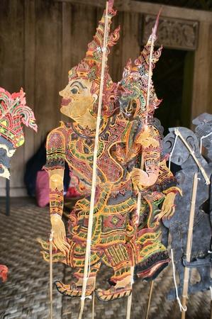 puppetry: Chiang Mai, Tailandia-febrero 23: ASEAN Puppets Enchanting 2013. Arte t�tere Sabek Thom Camboya T�teres en el CMU. Arte Center.on febrero 23,2013 en Chiang Mai, Tailandia Editorial