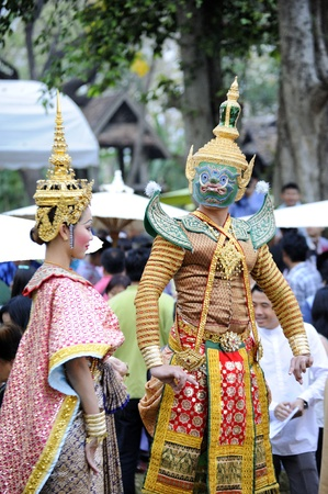 CHIANG MAI THAILAND-FEB. 22 : ASEAN Enchanting Puppets 2013.Opening ceremony of the international puppet theater ASEAN at The CMU. Art Center.on FEB. 22,2013 in Chiangmai,Thailand Stock Photo - 18832916