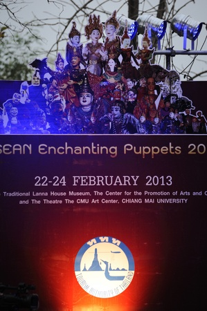 CHIANG MAI THAILAND-FEB. 22 : ASEAN Enchanting Puppets 2013.Opening ceremony of the international puppet puppet theater ASEAN at The CMU. Art Center.on FEB. 22,2013 in Chiangmai,Thailand