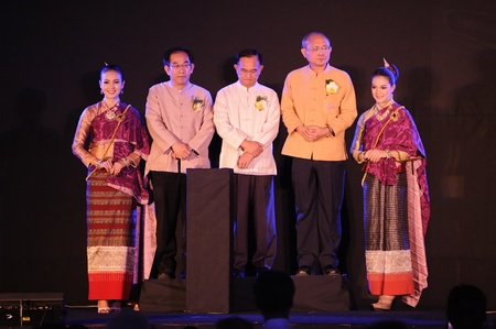 enchanting: CHIANG MAI THAILAND-FEB. 22 : ASEAN Enchanting Puppets 2013.Opening ceremony of the international puppet theater ASEAN at The CMU. Art Center.on FEB. 22,2013 in Chiangmai,Thailand