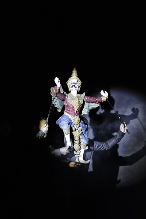 joe louis: CHIANG MAI THAILAND-FEB. 22 : ASEAN Enchanting Puppets 2013.Opening ceremony of the international puppet theater ASEAN at The CMU. Art Center.on FEB. 22,2013 in Chiangmai,Thailand