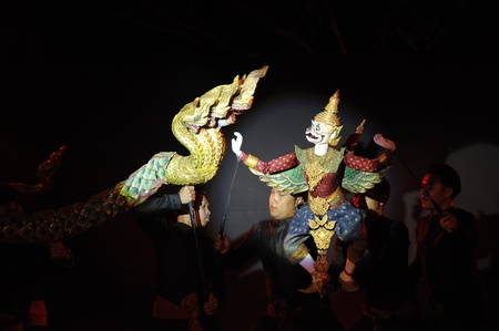 joe louis: CHIANG MAI THAILAND-FEB. 22 : ASEAN Enchanting Puppets 2013.Opening ceremony of the international puppet at CMU. Art Center.on FEB. 22,2013 in Chiangmai,Thailand Editorial