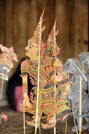 puppetry: Chiang Mai Tailandia-febrero 23: ASEAN Puppets Enchanting 2013. Marioneta Art Sabek Thom en Camboya T�teres en La CMU. Arte Center.on febrero 23,2013 en Chiang Mai, Tailandia Editorial