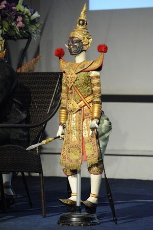 joe louis: CHIANG MAI THAILAND-FEB. 23 : ASEAN Enchanting Puppets 2013.The Puppet of Joe Louis of Thailand at The CMU. Art Center.on FEB. 23,2013 in Chiangmai,Thailand