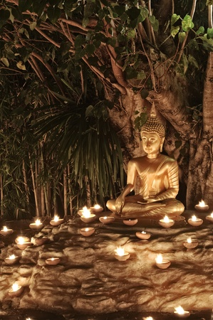 Makha Bucha Day at Phan Tao Temple : Chiang Mai Thailand. photo