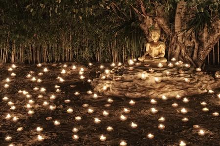 Makha Bucha Day at Phan Tao Temple : Chiang Mai Thailand. Stock Photo - 18936584