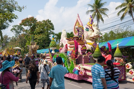 CHIANG MAI,THAILAND-FEB.3 : 37th Anniversary Chiang Mai Flower Festival, People are interested in coming to visit the annual Chiang Mai flower festival. on Feb.3, 2013 in Chiang Mai,Thailand. Stock Photo - 18883855