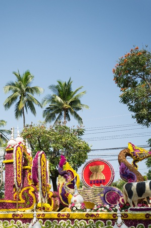 CHIANG MAI,THAILAND-FEB.3 : 37th Anniversary Chiang Mai Flower Festival, People are interested in coming to visit the annual Chiang Mai flower festival. on Feb.3, 2013 in Chiang Mai,Thailand. Stock Photo - 18883713