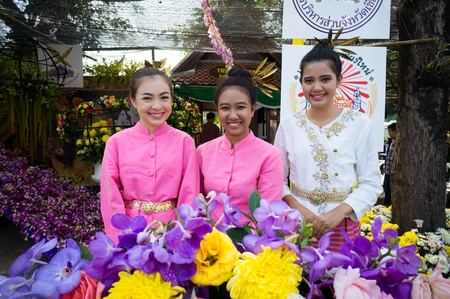 CHIANG MAI,THAILAND-FEB.3 : 37th Anniversary Chiang Mai Flower Festival, People are interested in coming to visit the annual Chiang Mai flower festival. on Feb.3, 2013 in Chiang Mai,Thailand. Stock Photo - 18883717
