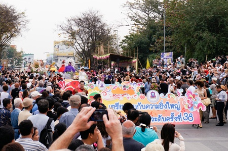 CHIANG MAI,THAILAND-FEB.2 : 37th Anniversary Chiang Mai Flower Festival, People are interested in coming to visit the annual Chiang Mai flower festival. on Feb.2, 2013 in Chiang Mai,Thailand. Stock Photo - 18888748