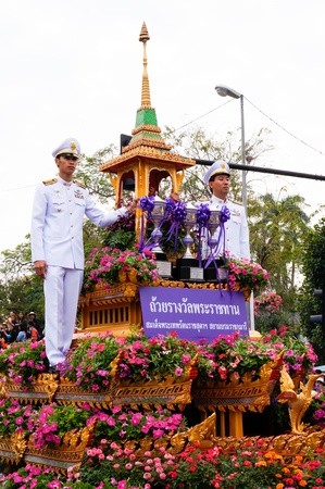 CHIANG MAI,THAILAND-FEB.2 : 37th Anniversary Chiang Mai Flower Festival, People are interested in coming to visit the annual Chiang Mai flower festival. on Feb.2, 2013 in Chiang Mai,Thailand. Stock Photo - 18888744