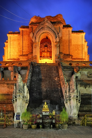 Chedi Luang temple : Chiang Mai Thailand. photo