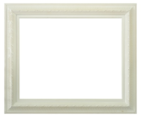 picture frame on wall: Antique frame isolated on white background