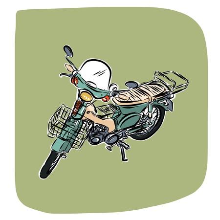 motor cycle: Vintage motorcycle