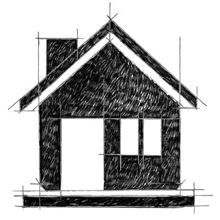 Home icon sketchbook Vector