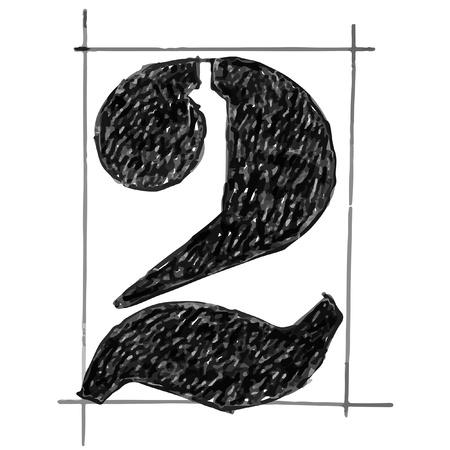 sketchbook: Number sketchbook fill black