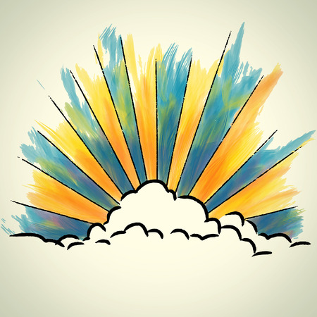 Cloud sketchbook Vector