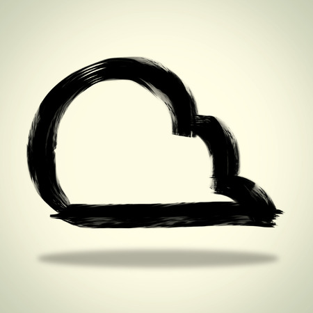 Cloud ink paint vector sketchbook Vector