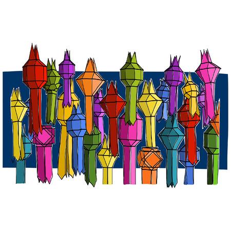 Lantern festival sketchbook