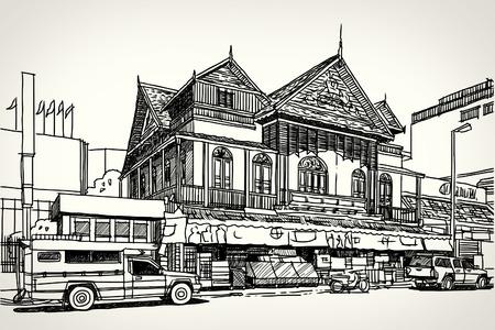 sketchbook: Street road sketchbook  Illustration